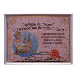 Diplome du record occupation de salle de bain