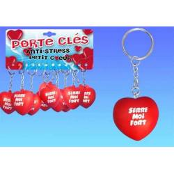 Porte clefs Coeur antistress Serre moi fort