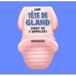 "Bloc notes ""Tête de gland"""