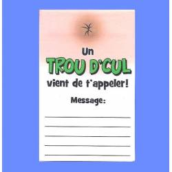 Bloc notes Trou d Cul