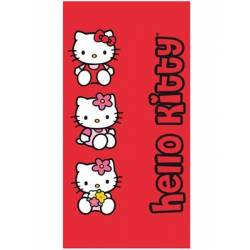 Serviette Hello Kitty Rouge