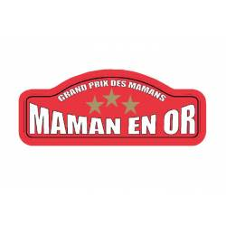 Plaque Rallye Maman en Or