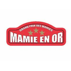 Plaque Rallye Mamie en Or