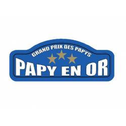 Plaque Rallye Papy en Or