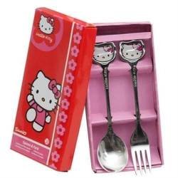 Cuillere et Fourchette Hello Kitty