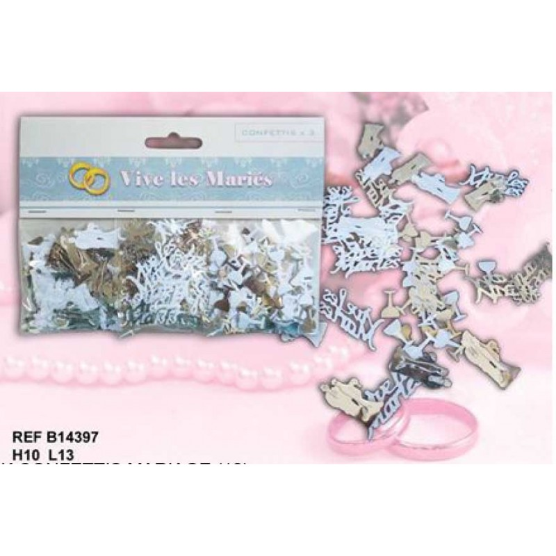 Pack confettis mariage for Pack coquin