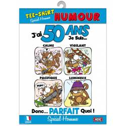 Tee-shirt humour - 50 ans homme