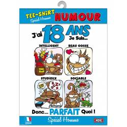 Tee-shirt humour - 18 ans homme