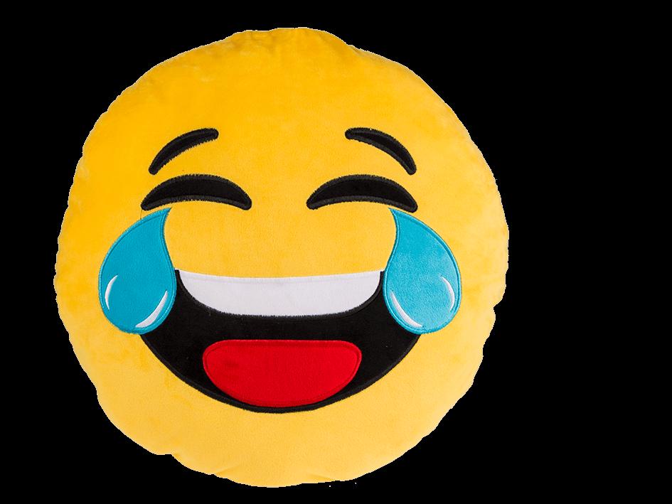 Coussin Peluche Emoji Mort De Rire