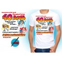 Tee-shirt homme dedicace on signe pour mes 40 ans