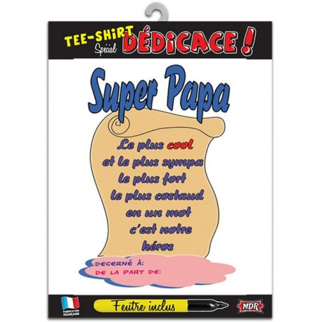 Tee-shirt personnalisable Super papa