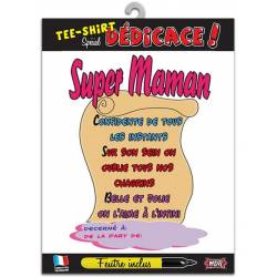 Tee-shirt personnalisable Super maman