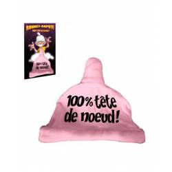 Bonnet Capote Rose 100% tete de noeud