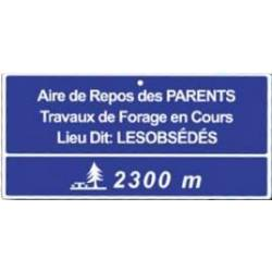 Plaque Aire de repos des parents
