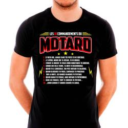 Tee-shirt les 10 commandements du Motard