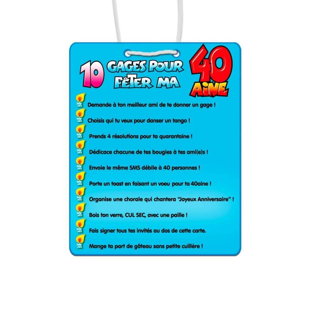 10 Gages 40 Ans Carte Anniversaire