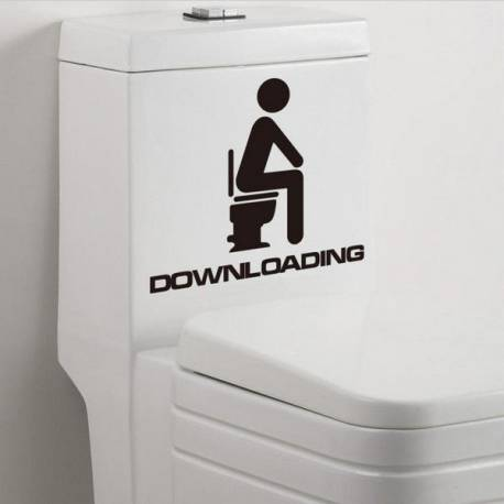 Sticker pour toilettes Downloading