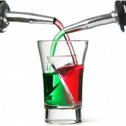 5 verres double shooter - Twister shots