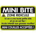 Plaque de porte mini bite
