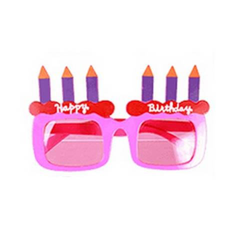 Lunettes Happy Birthday rose