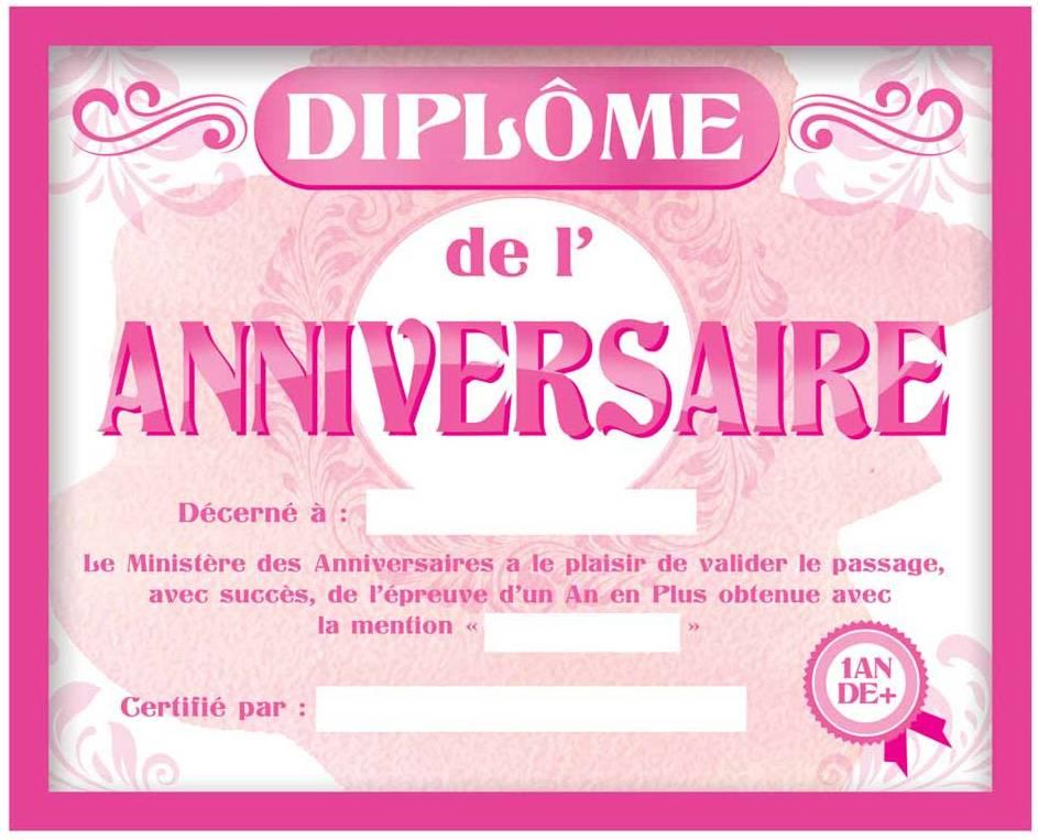 Cadre Diplome De L Anniversaire Pour Femme