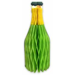 Suspension bouteille 3D verte