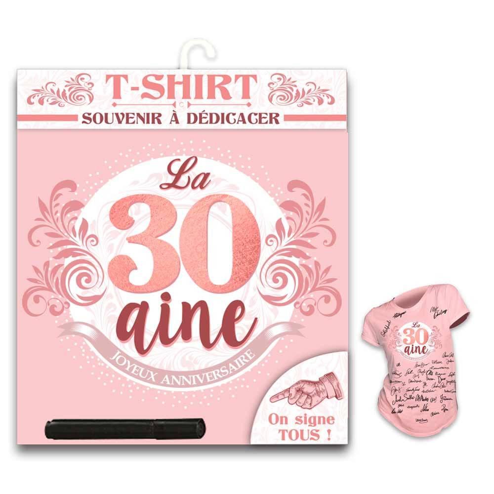 T Shirt Anniversaire Femme 30 Ans