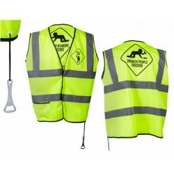 Gilet fluo Men at work Drunken People Crossing